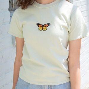 🍃brandy melville green butterfly tee🍃